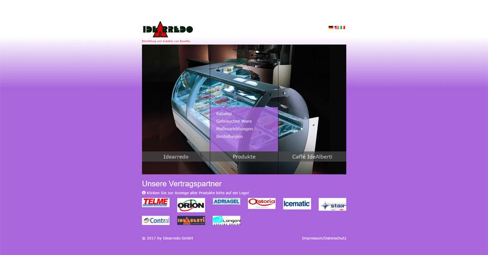 Referenz Webdesign Eiscafébedarf