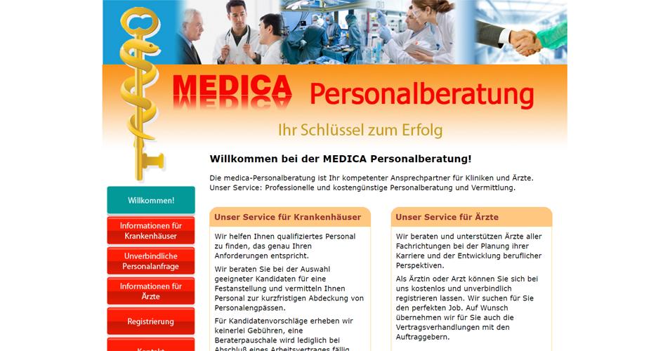 Website für medizinische Personalberatung