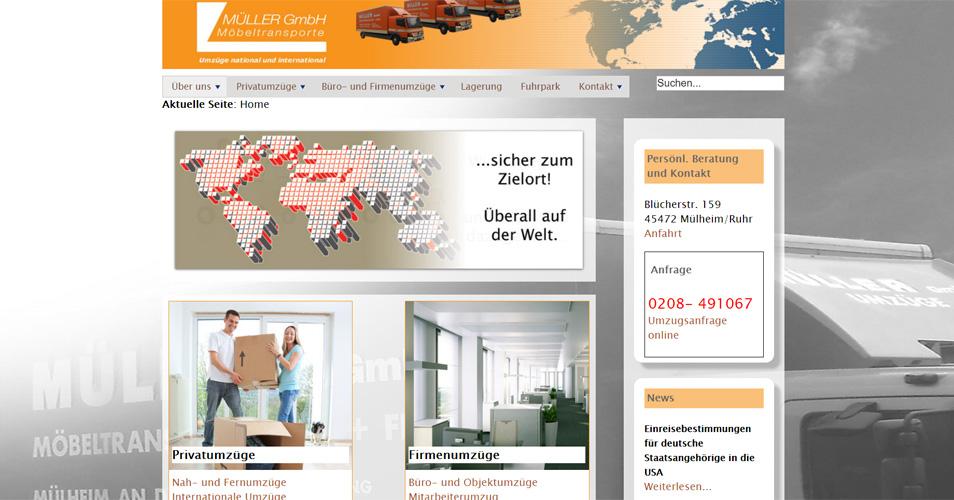 Referenz Webdesign Möbeltransporte