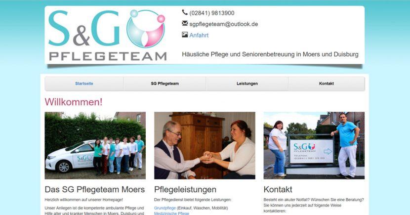 Referenz Webdesign Krankenpflege