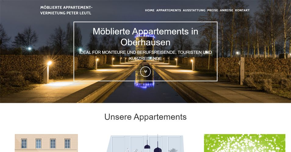 Referenz Webdesign: Vermietung von Appartements