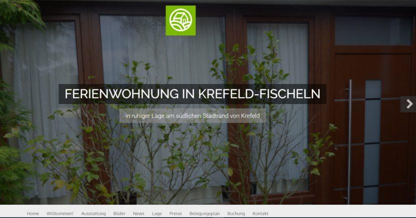 Webdesign Ferienwohnung Krefeld