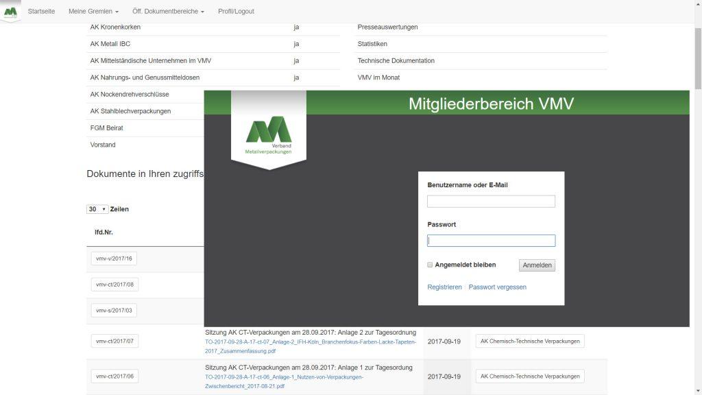 Mitgliederbereich für Düsseldorfer Verband